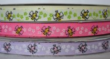 10mm BEES and DAISIES GROSGRAIN RIBBONS